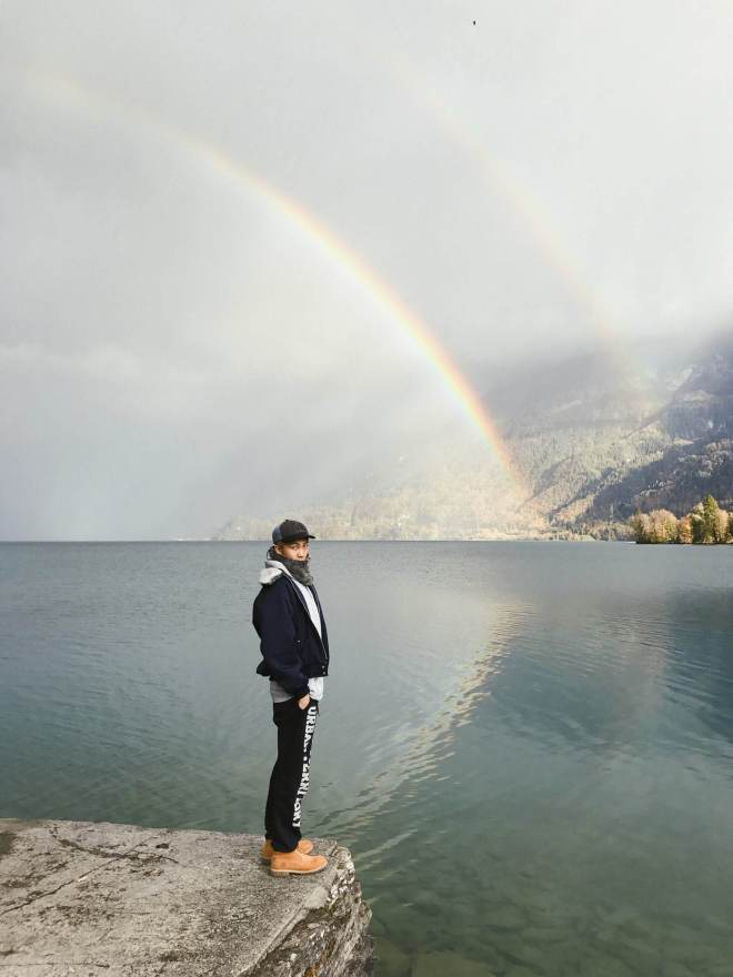 Namjoon and a Rainbow